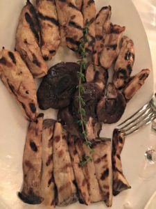 Grilled mushrooms, Milos, www.theeducationaltourist.com