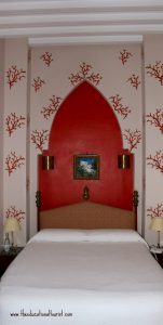 hotel room with Moroccan decor, La Maison Blanche, www.theeducationaltourist.com
