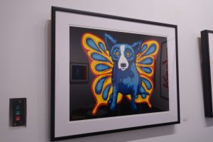 blue dog with butterfly wings, Blue Dog, www.theeducationaltourist.com