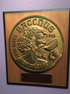 Bacchus krewe coin, Presbytere Mardi Gras, www.theeducationaltourist.com