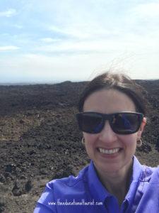 The Educational Tourist and lava flow on big island of Hawaii, South Point, Hawaii, www.theeducationaltourist.com