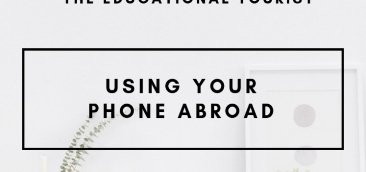 desk, using your phone abroad