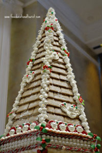 roof detail of Gingerbread house in New Orleans' Hurrah's hotel lobby, New Orleans Christmas decorations, www.theeducationaltourist.com