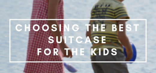 two kids by the lakeshore, best suitcase for kids