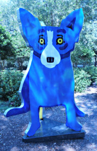 The Blue Dog, NOMA Sculpture Park,