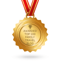 Blogger award - Top 100 Family Travel Blogs