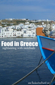 boat in the water off Greek island, Greece food, www.theeducationaltourist.com