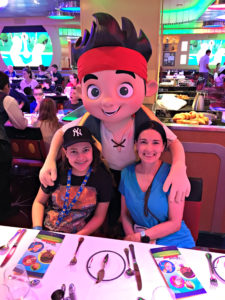 The Educational Tourist with Jake from Jake and the Neverland Pirate character on a Disney Cruise