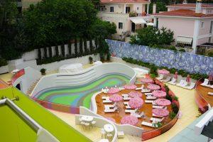 pool at Semiramis hotel in Kifissia Greece