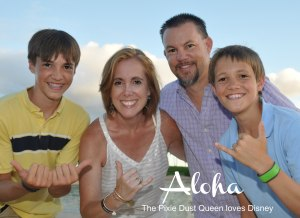 Pixie Dust Queen and family in Aulani Hawaii
