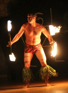 fire dancer in luau