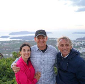 The Educational Tourist, husband and travel guide Santorini sunset