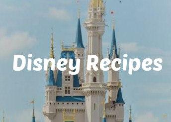 Cinderella castle in Disney World that says Disney recipes
