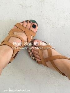 women's feet in sandals: Poet Sandal maker