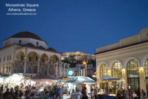 athens greece monastiraki square