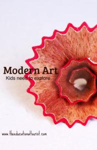 pencil shaving modern art museum
