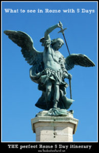 Angel statue Rome 5 day itinerary