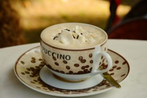 cup of cappuccino in Rome