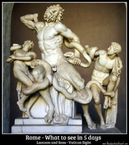 laocoon and sons, Rome 5 day itinerary
