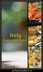 Italy pasta and pizza