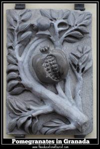 pomegranate relief Granada Spain