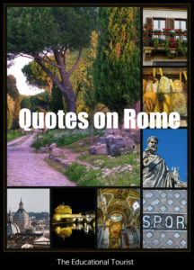 quotes on Rome, The Eternal City quotes, Rome Quotes
