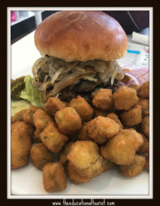 hamburger and fried okra, pops, quirky route 66