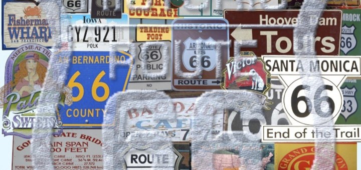 road signs, quirky route 66