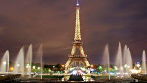 Eiffel Tower lit