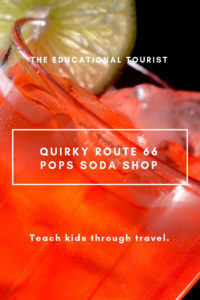 soda in glass, quirky route 66