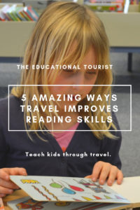 girl reading, ways travel improves reading skills