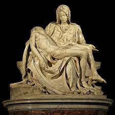 Michelangleo's La Pieta in St. Peter's photo from arthistorymom.com, Michelangelo's Pieta, www.theeducationaltourist.com