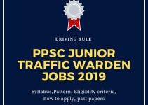 Junior Traffic Warden jobs in Punjab Public Service Commission