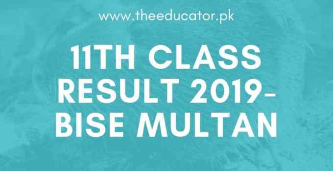 1st year result 2019 bise multan