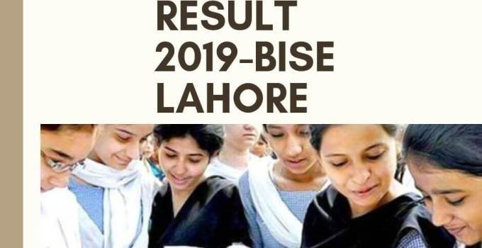 bise lahore inter result 2019