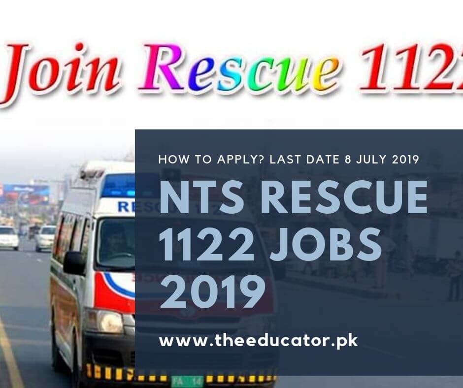 Rescue 1122 Jobs 2019 In Punjab-Pakistan