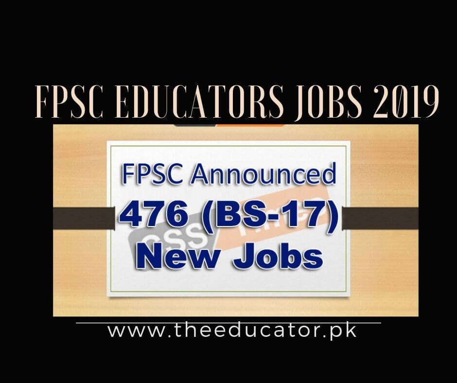 FPSC Teaching Jobs(BS-17 ) 2019-Secondary School Jobs