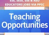 ppsc teaching jobs 2020