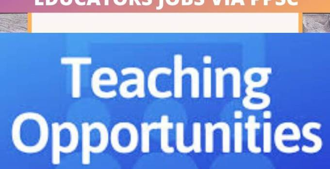 ppsc teaching jobs 2020