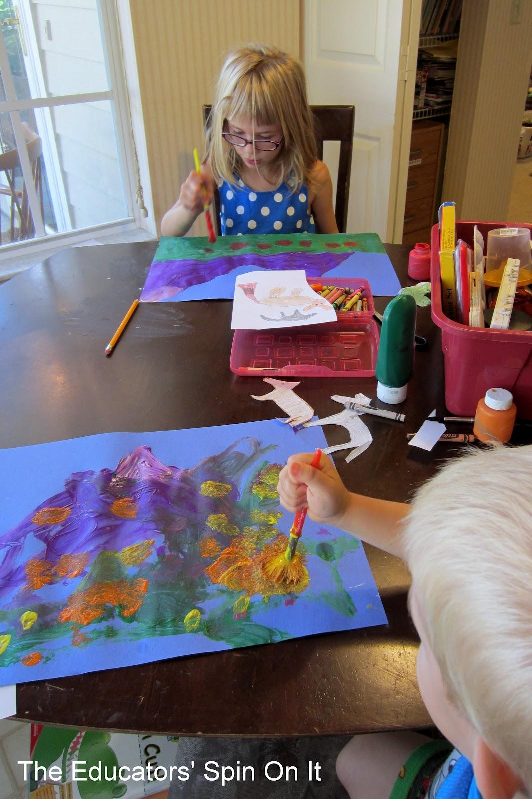 Purple Mountain Painting Activity Art For Kids