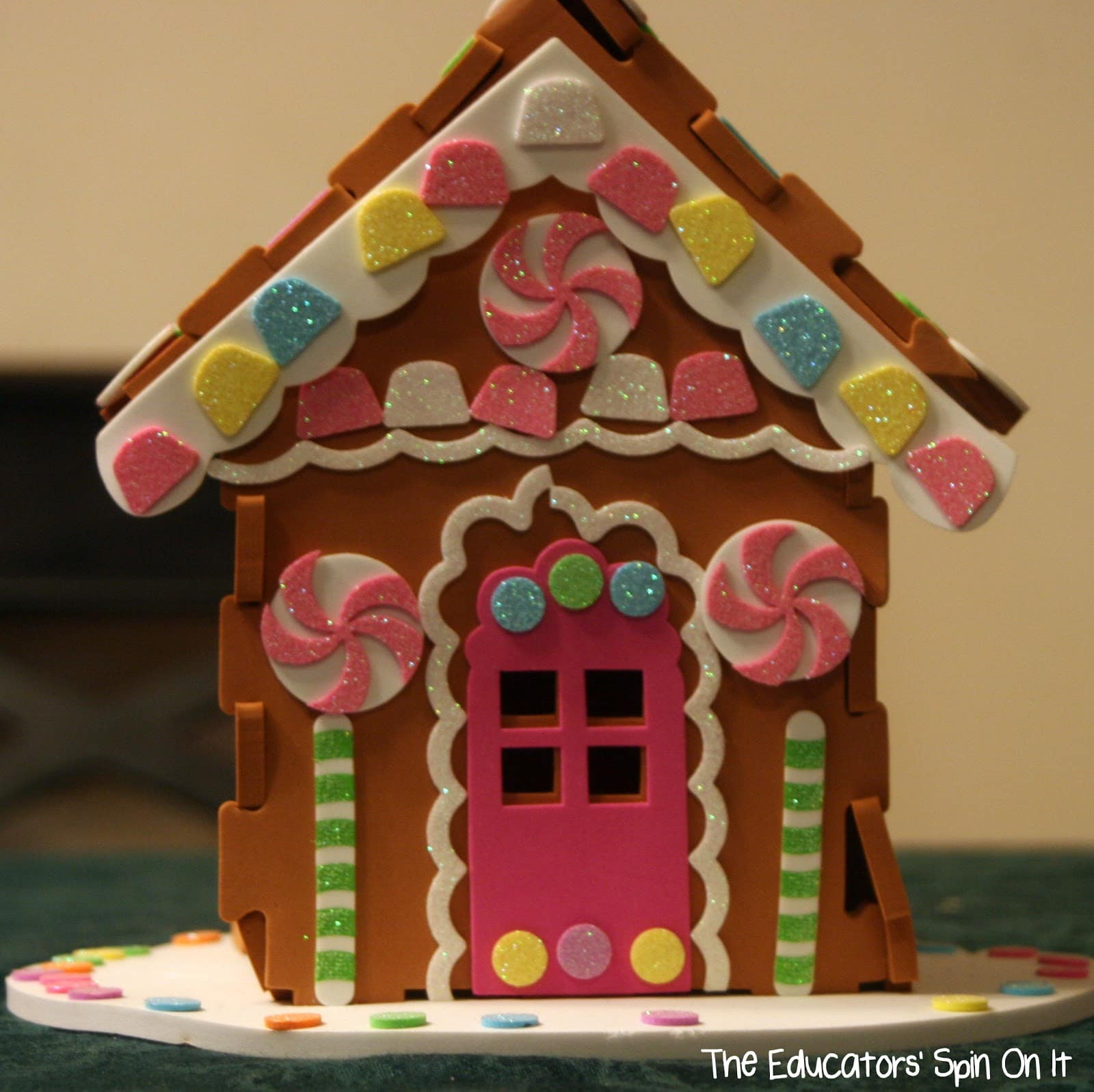 Make Your Own Life Size Gingerbread House For Kids