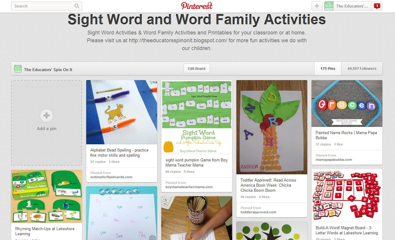 Sight Word Amp Word Family Activities