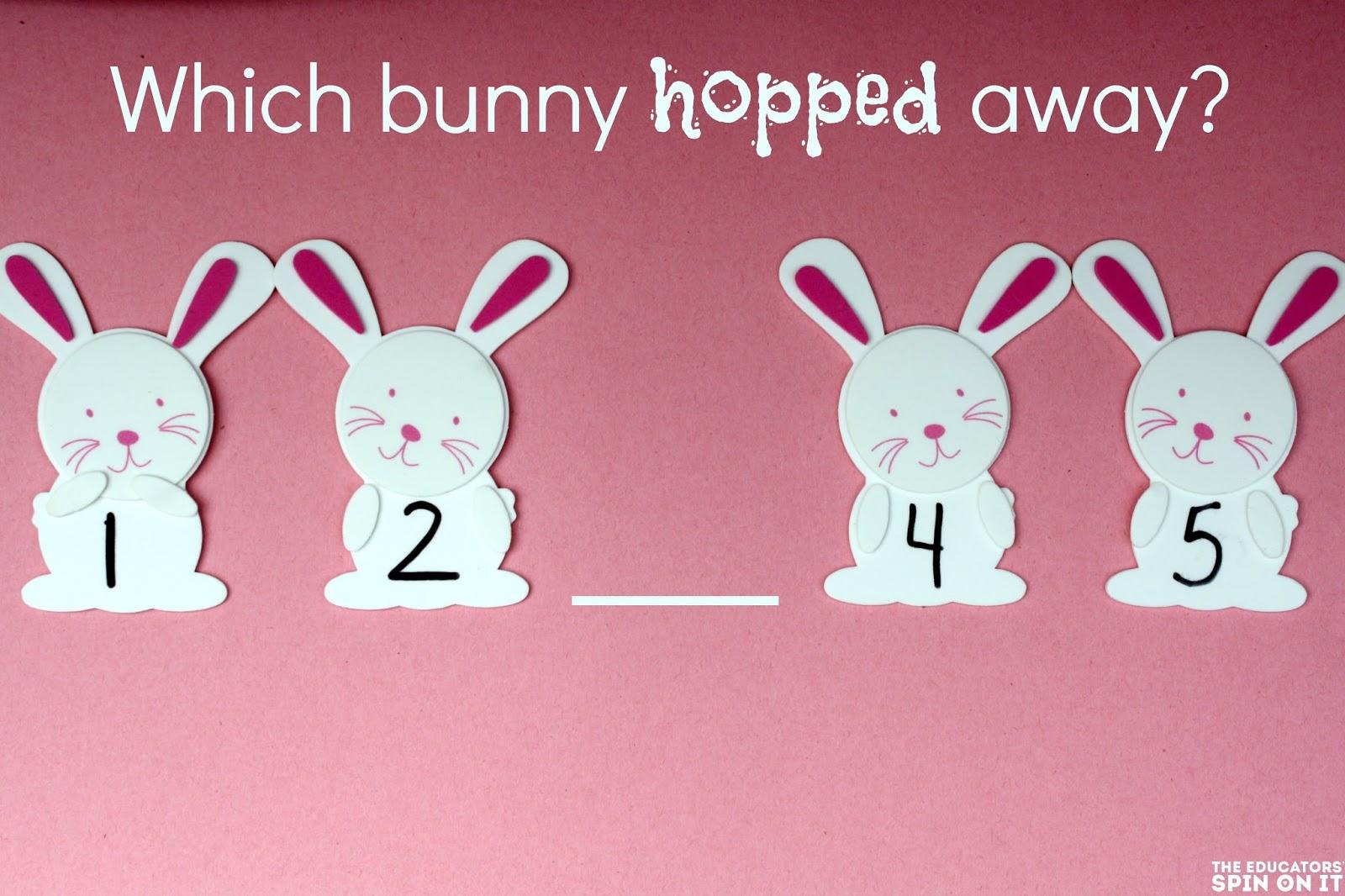 Easter Bunny Math Preschool Playdate