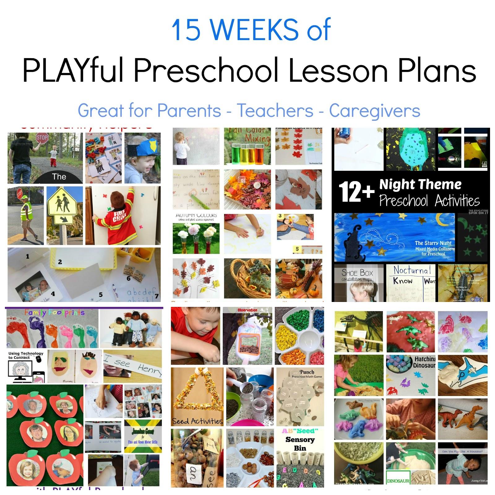 Free Preschool Thematic Lesson Plans Playfulpreschool