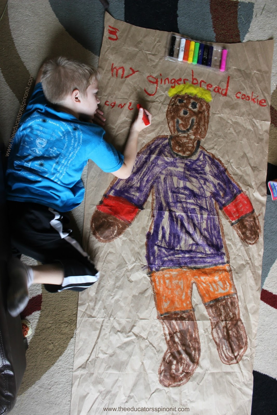 Giant Gingerbread Cookie Writing Activity For Kids