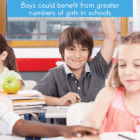 Boys could benefit from greater numbers of girls in schools