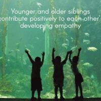Younger and older siblings contribute positively to each other's developing empathy