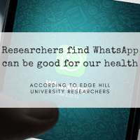 Researchers find WhatsApp can be good for our health