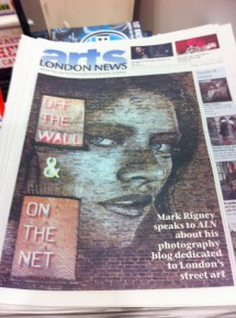Arts London News has a catchy front page... Though similar to last weeks, no?