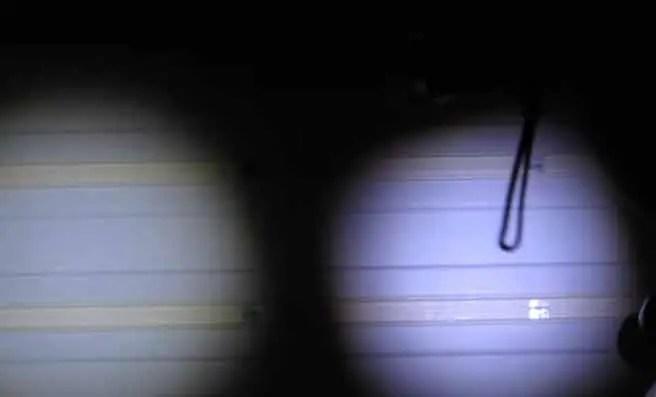 Brightness of the X800 flashlight